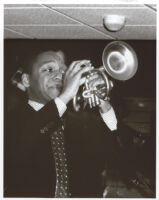 Wynton Marsalis playing the trumpet, Los Angeles, April 1998 [descriptive]
