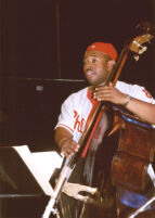 Christian McBride playing double bass, Los Angeles [descriptive]