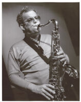 Mel Martin playing saxophone in Los Angeles, August 1995 [descriptive]