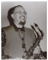 Jackie McLean playing the saxophone, Los Angeles, October 1996 [descriptive]