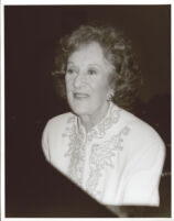 Marian McPartland playing piano in Los Angeles, August 1996 [descriptive]