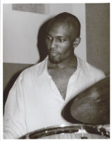 Leon Parker playing the drums, Los Angeles, September 1995 [descriptive].