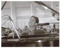 Alan Pasqua playing piano in Los Angeles, June 2001 [descriptive]