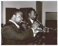 Nicholas Payton playing trumpet in Los Angeles, May 15, 1996 [descriptive]