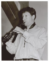 Chris Potter playing the soprano saxophone in Los Angeles [descriptive]