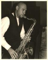 Joshua Redman playing saxophone in Los Angeles [descriptive]
