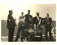 Max Roach with ensemble in Los Angeles [descriptive]