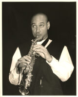 Joshua Redman playing the clarinet in Los Angeles [descriptive]