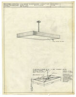 Architectural drawing, suspended lighting fixture