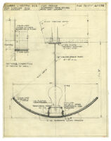Architectural drawing, light trough suspended from ceiling