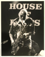 Sonny Rollins playing the tenor saxophone at the House of Blues, Los Angeles, October 1997 [descriptive]
