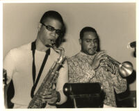 David Sanchez and Terell Stafford performing in Los Angeles, December 2000 [descriptive]