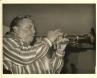 Arturo Sandoval playing the trumpet in Los Angeles [descriptive]