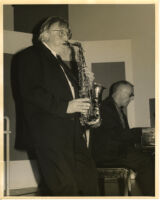 Bud Shank on sax and Mike Wofford on piano performing in Los Angeles [descriptive]