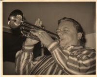 Arturo Sandoval playing the trumpet in Los Angeles [descriptive]