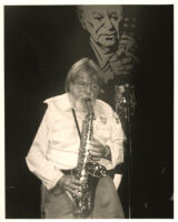 Bud Shank playing the alto sax in Los Angeles [descriptive]