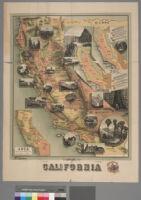 Unique map of California
