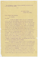 Griffth, Griffith J., typescript copy of letter to his son, San Quentin Prison, December 20, 1905