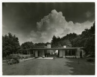 Rang House, view of garden side exterior, Germany, 1961