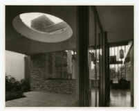 Rang House, view of front entrance and skylight, Germany, 1961
