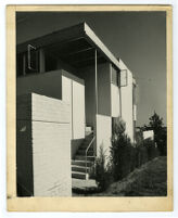 Strathmore Apartments, service entrance and porch, Los Angeles, California, 1937