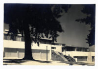 Strathmore Apartments, northern view of exterior, Los Angeles, California, 1937