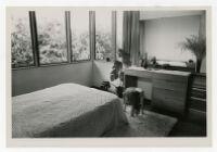 McIntosh House, furnished bedroom, Los Angeles, California, 1939