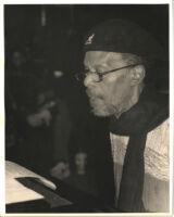 Horace Tapscott at the piano, Los Angeles [descriptive]