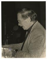 Frank Strazzeri playing the piano in Los Angeles, March 1997 [descriptive]