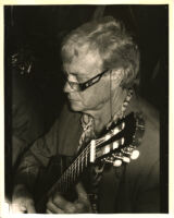 Jimmy Stewart playing guitar in Los Angeles, September 1995 [descriptive]