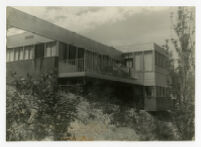Mosk House, view of balcony overlooking Griffith Park, Los Angeles, California, 1933