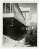 Mosk House, view of balcony, Los Angeles, California, 1933