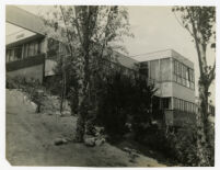 Mosk House, view from garden front looking southeast, Los Angeles, California, 1933