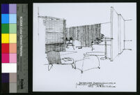 Mountain Home Air Force Base Housing, rendering of extended living quarters, Boise, Idaho, 1950-1960