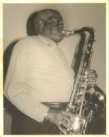 Stanley Turrentine playing the tenor saxophone, Los Angeles [descriptive]