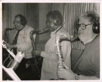 Rickey Woodard performing with Ernie Watts and Pete Christlieb, Los Angeles, March 1997 [descriptive]