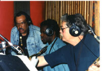 Rickey Woodard with Ernie Watts and Pete Christlieb, Los Angeles, March 1997 [descriptive]