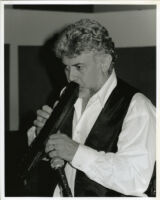 Monty Alexander playing an unidentified instrument in Los Angeles, June 1999 [descriptive]