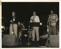 Oscar Brashear on trumpet with unidentified musicians, Los Angeles [descriptive]