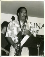 Don Braden playing the saxophone in Los Angeles, August 1996 [descriptive]