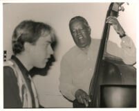 Ray Brown playing the double bass, Los Angeles April 1997 [descriptive]