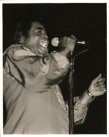 James Brown performing in Los Angeles, May 10, 1996 [descriptive]