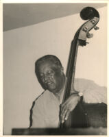 Ray Brown playing the double bass, Los Angeles, April 1997 [descriptive]