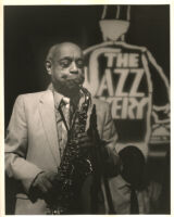 Benny Carter playing sax at the Jazz Bakery in Culver City, California, August 1995 [descriptive]