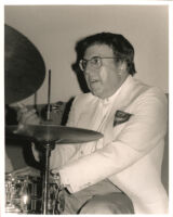Frankie Capp playing drums in Los Angeles, July 1996 [descriptive]