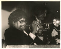 Bobby Bryant playing the trumpet in Los Angeles, September 1996 [descriptive]