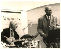 Buddy Collette with Al Viola performing at the Hammer Museum in Los Angeles, July 1996 [descriptive]