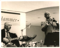 Buddy Collette and Al Viola performing at the Armand Hammer in Los Angeles, July 1996 [descriptive]