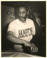 Ron Carter playing the double bass at the Catalina Bar & Grill in Hollywood, May 1996 [descriptive]
