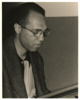 Billy Childs playing the piano in Los Angeles, June 1999 [descriptive]